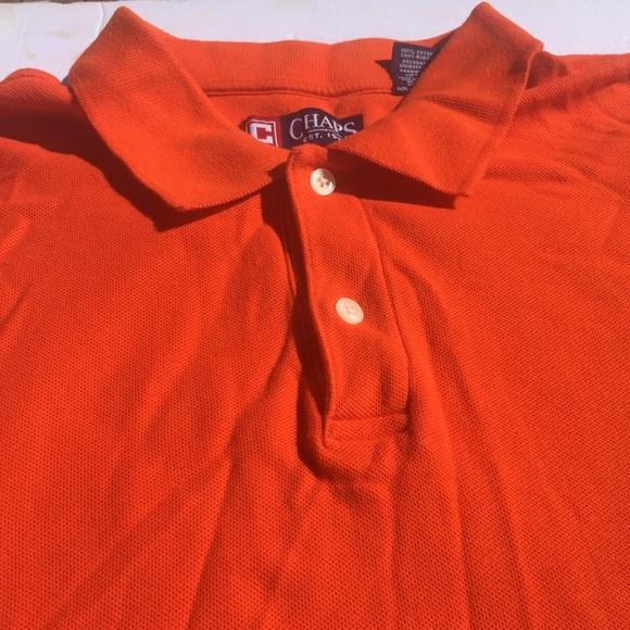 24def7c0 Chaps Shirts   Short Sleeve Orange Shirt Rugby Mens Size L   Poshmark